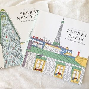 Secret Paris & New York Coloring Books
